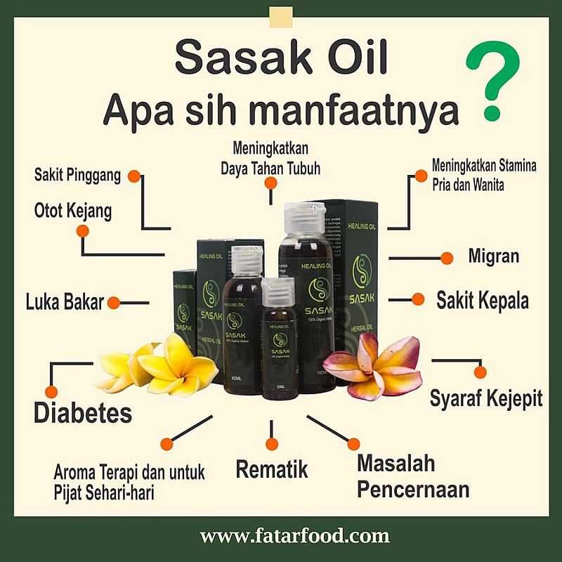 SASAK HERBAL OIL - HEALING OIL 60ML